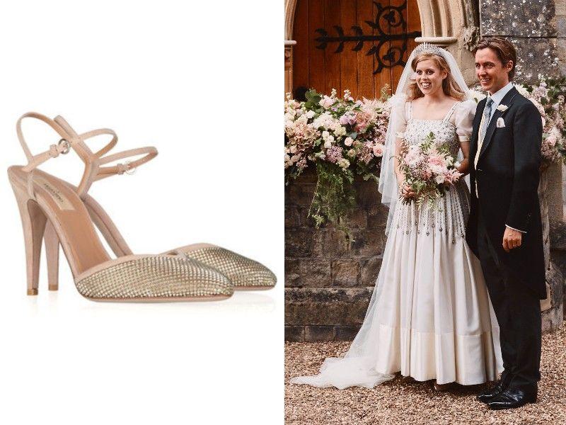 Beatrix hercegnő esküvői cipői