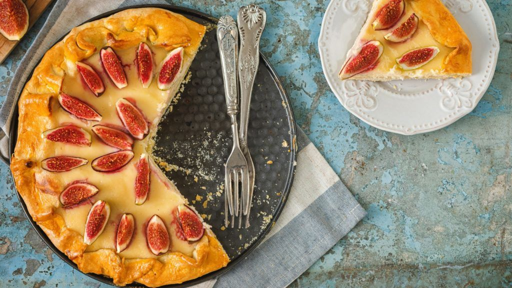 Brie sajtos-fügés galette