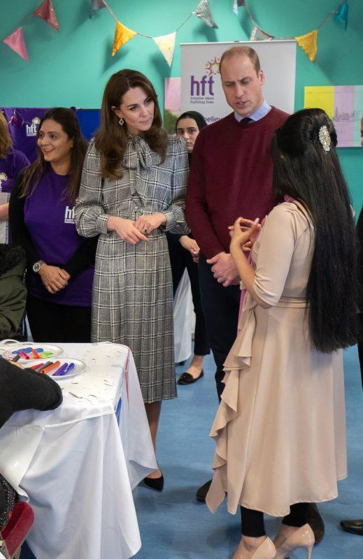 Katalin hercegné és Vilmos herceg Bradfordban