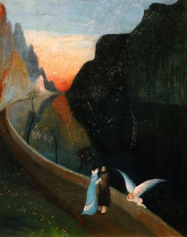 Csontváry Kosztka Tivadar festménye, a Szerelmesek találkozása