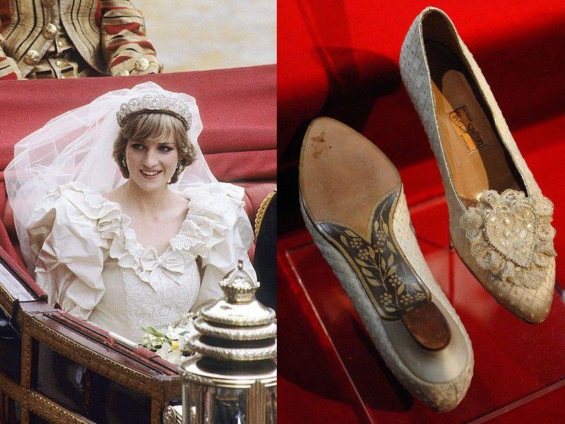 Diana hercegnő esküvői cipői