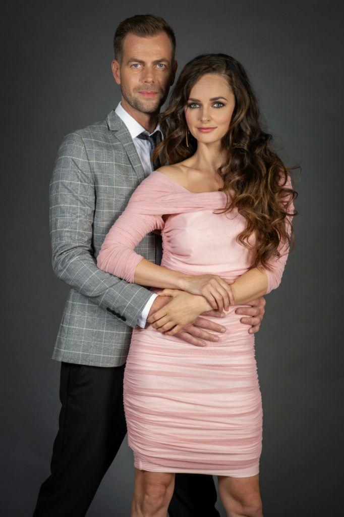 Dobó Ági és Kis Csaba a Love bistro forgatásán