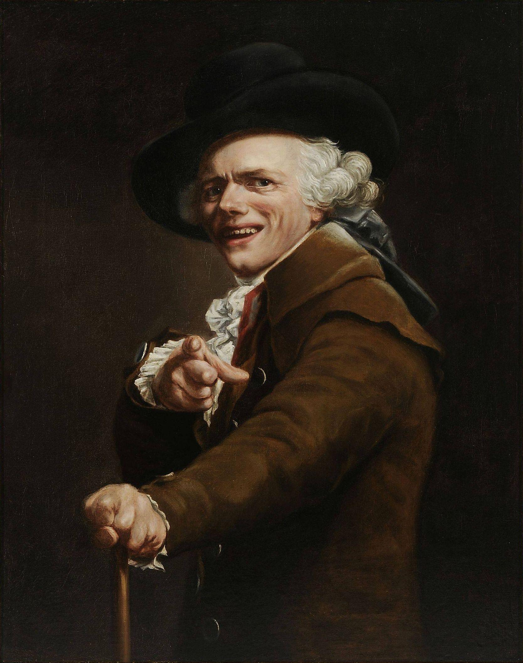 Ducreux halhatatlan mémportréja (forrás: Wikipedia)