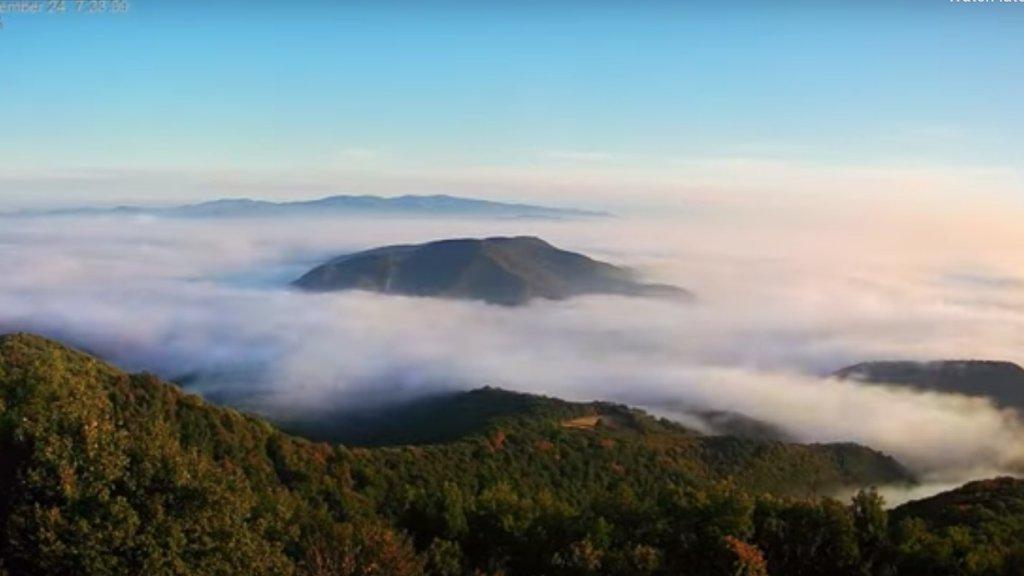 Köd a Dunakanyarban
