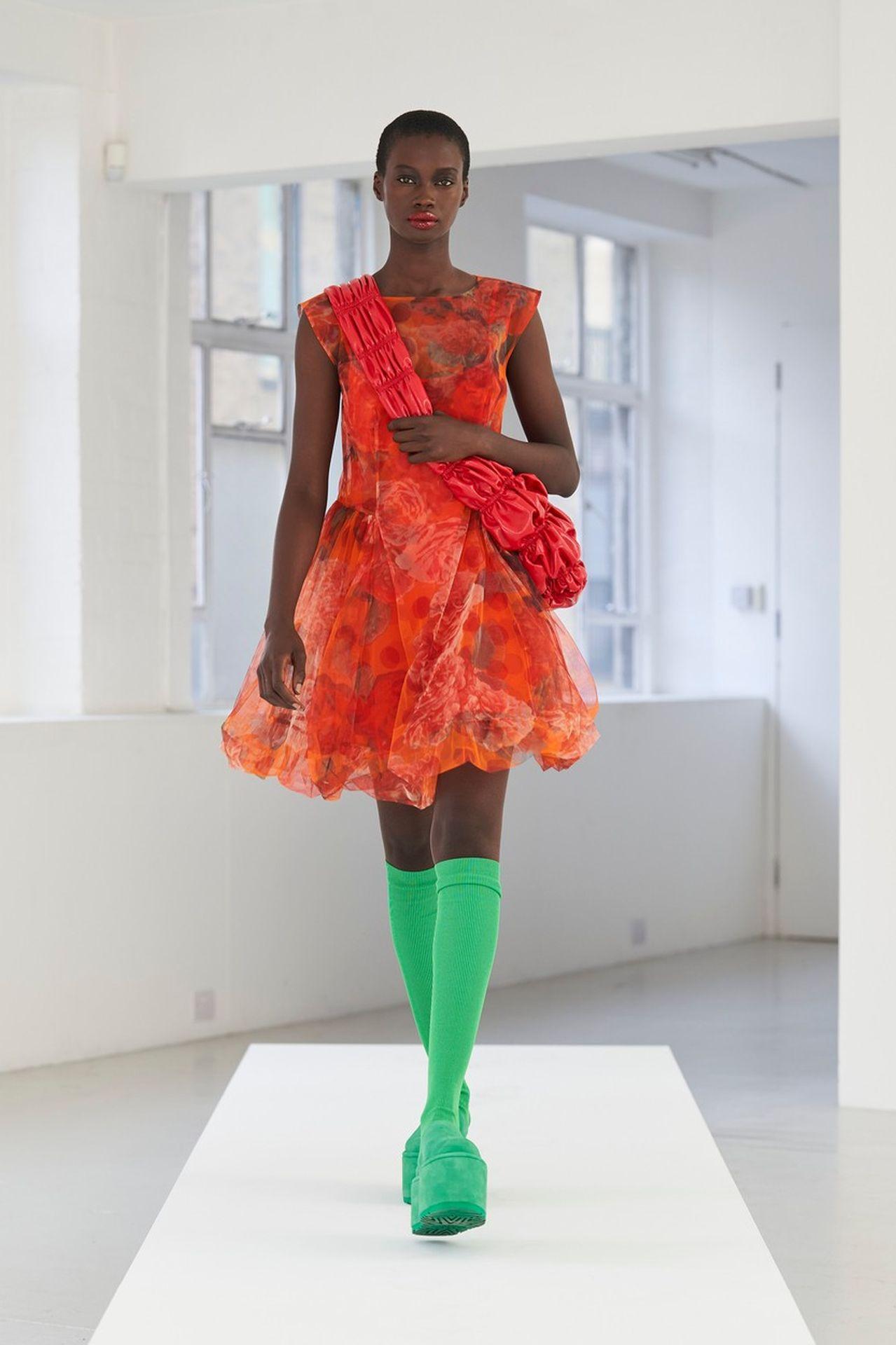 Molly Goddard zöld zoknis szett