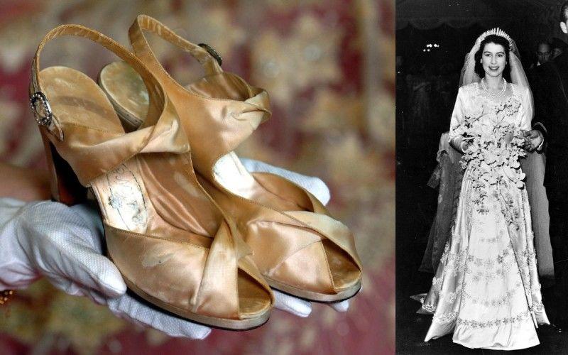 II. Erzsébet esküvői cipői