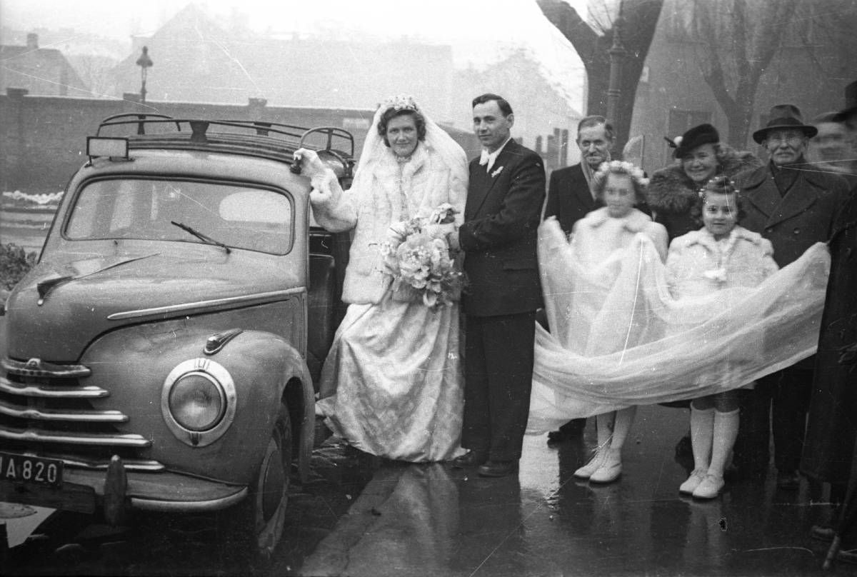 Téli esküvő az 50-es években