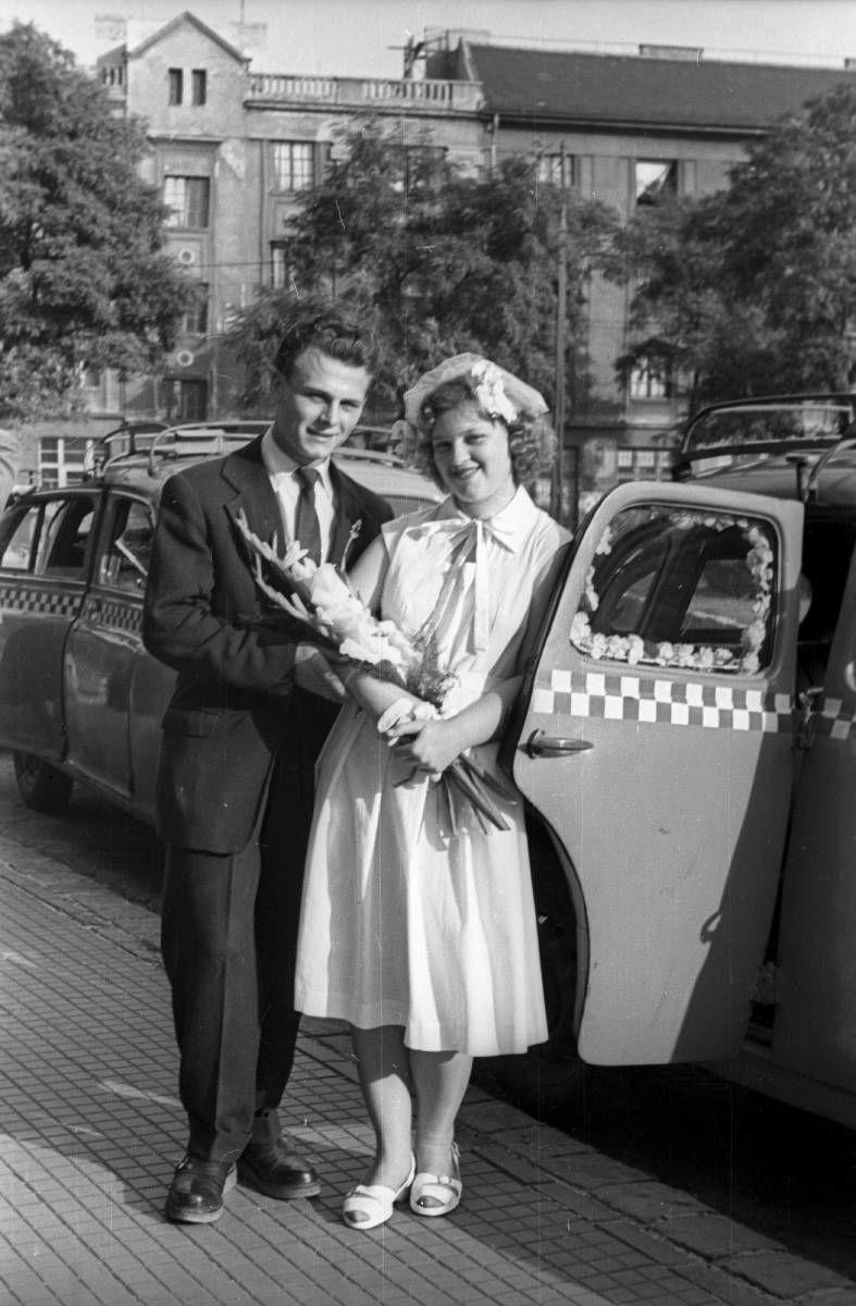 esküvői ruha az 50-es évekből