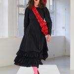 Molly Goddard fekete ruha