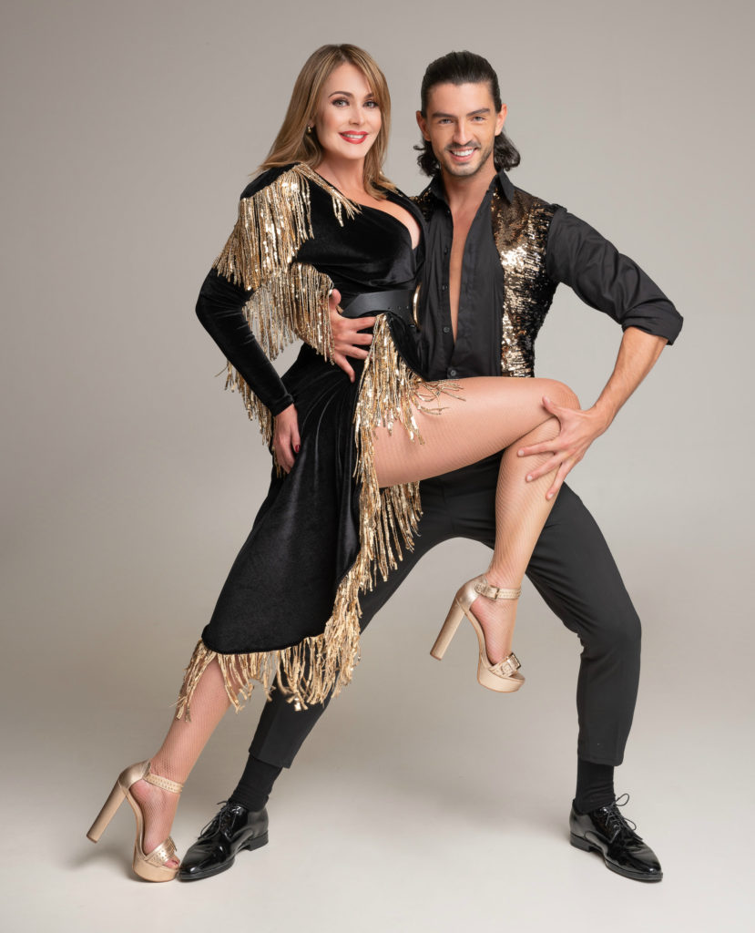 Gabriela Spanic és Andrei Mangra a Dancing with the Stars versenyzői