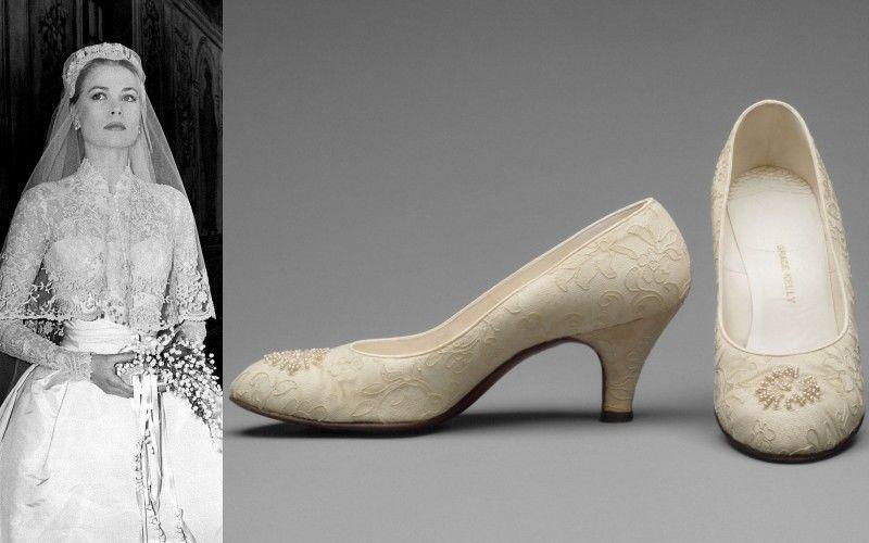 Grace Kelly esküvői cipői