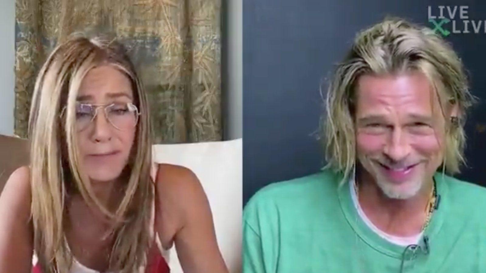 Nem hiszel a szemednek: Zoomon flörtölt Brad Pitt és Jennifer Aniston