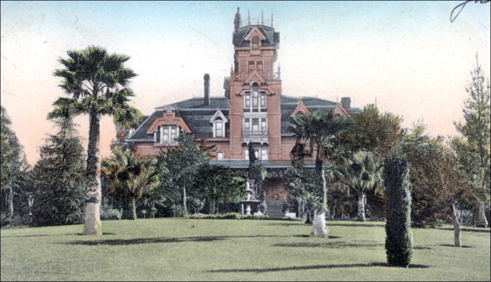 Johnsonék Buena Vista-i rezidenciája a századforduló környékén (fotó: santarosahistory.com)