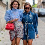 kék ruha street style