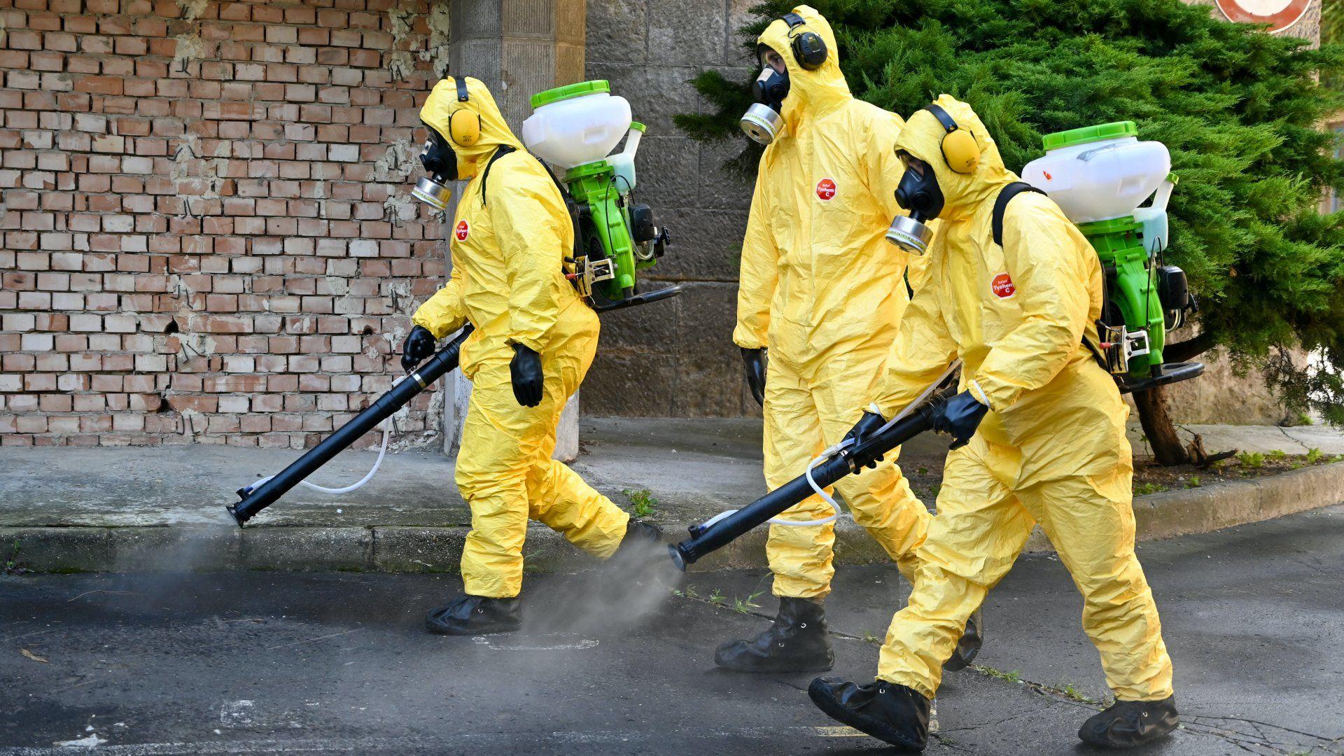 Koronavírus-járvány fertőtlenítés