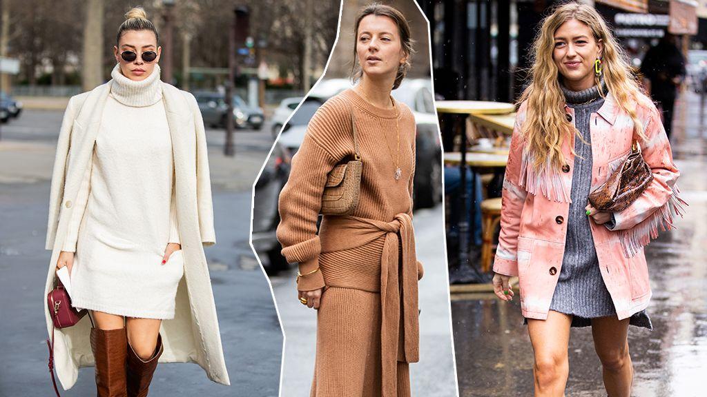 Street style: kötött ruhák
