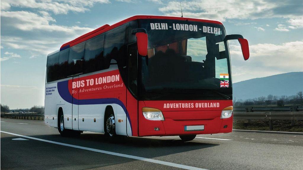 70 napig tart az út, amelyet egy busz Londonból Delhibe tesz meg