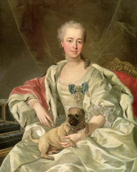 Louis-Michel van Loo: Jekatyerina Dimitrijevna Golitcsina portréja, 1759 (forrás: Wikipedia)