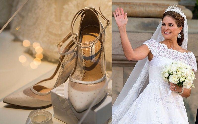 Bernadotte Magdolna svéd királyi hercegnő esküvői cipői