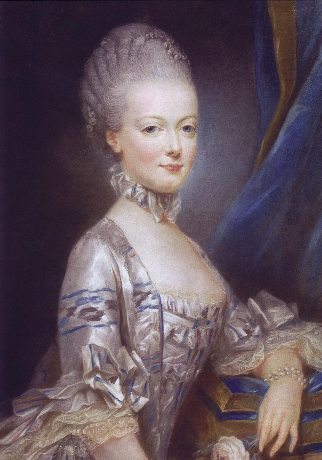 Mária Antónia mint leendő királyné Joseph Ducreux festményén (forrás: Wikipedia)