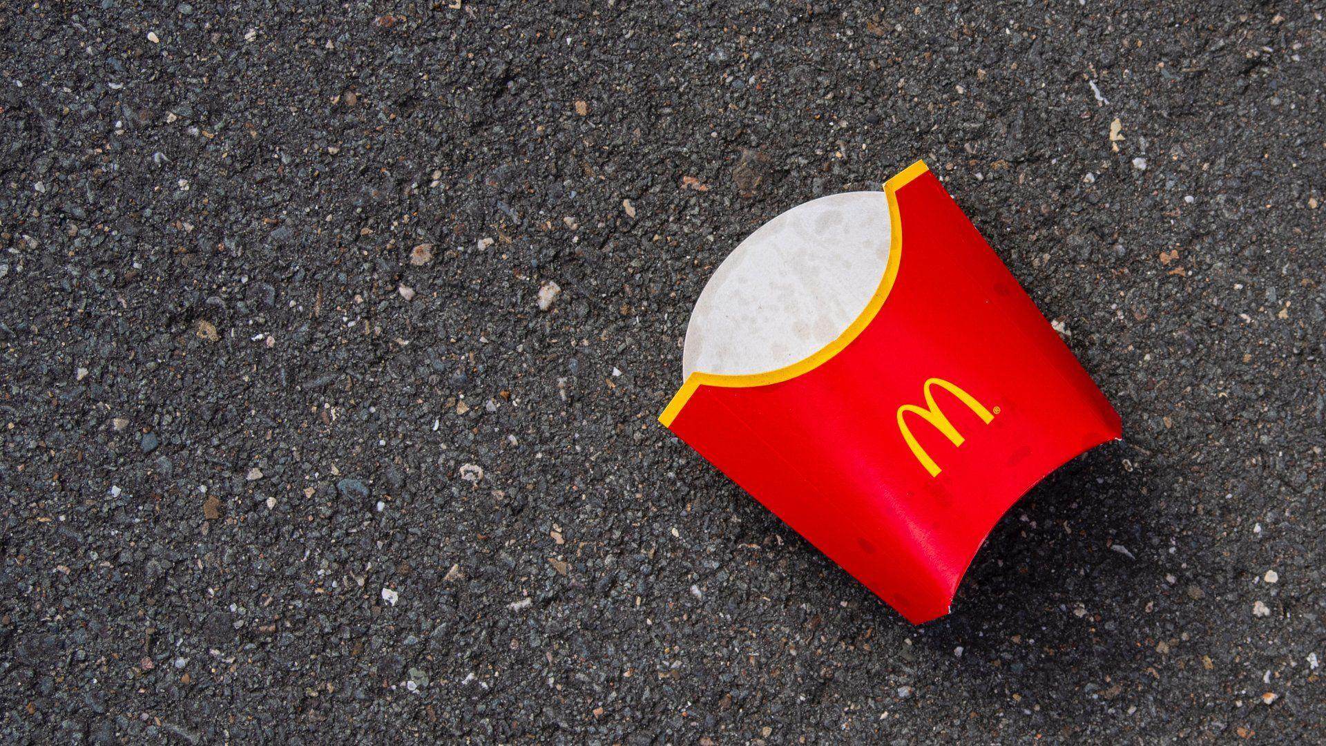 McDonald'sos sült krumpli csomagolása