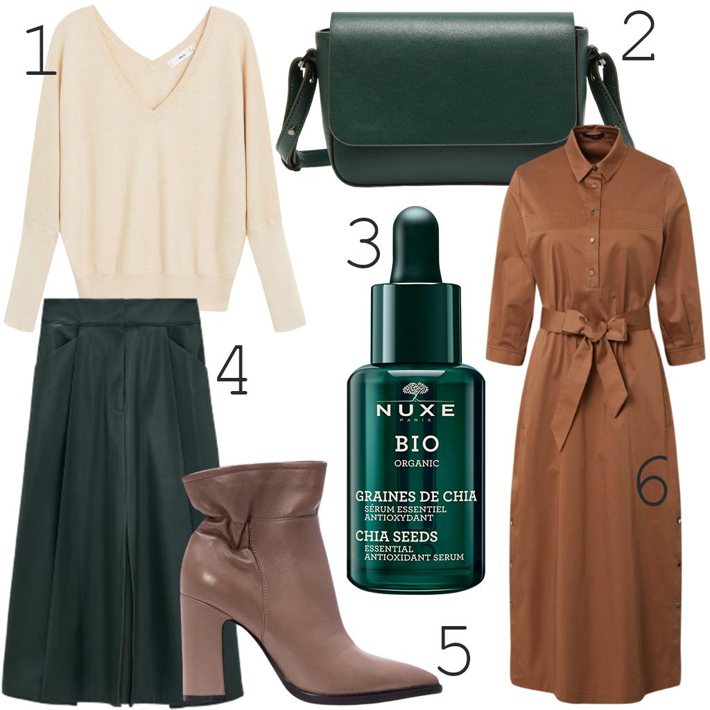 A bézsek, barnák és zöld árnyalatok az őszi divat kedvencei.