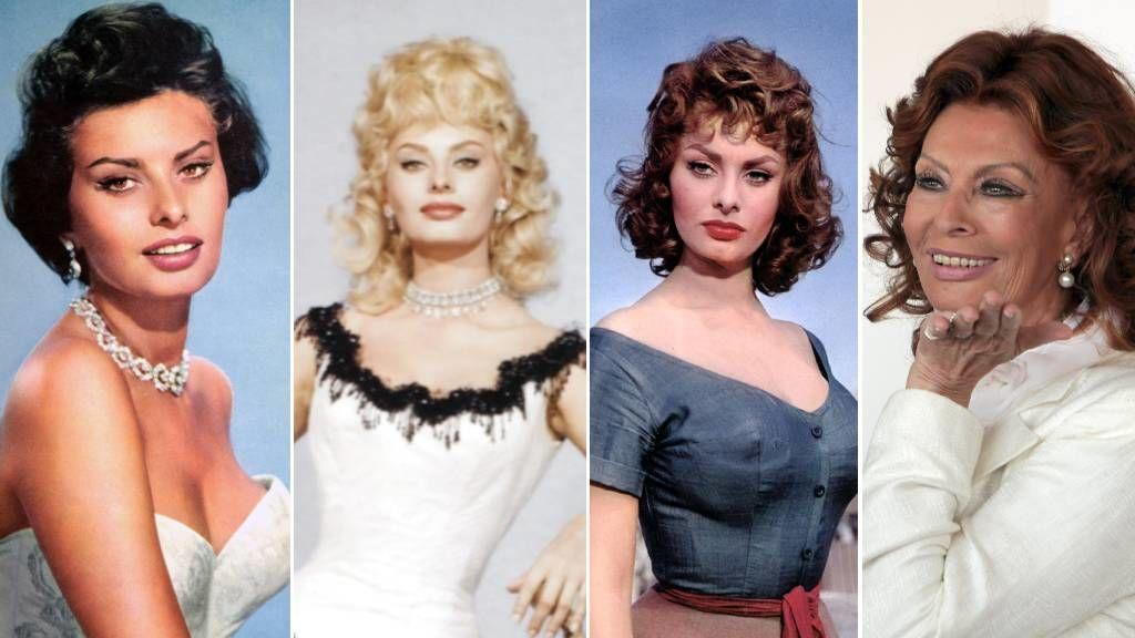 Sophia Loren frizurái