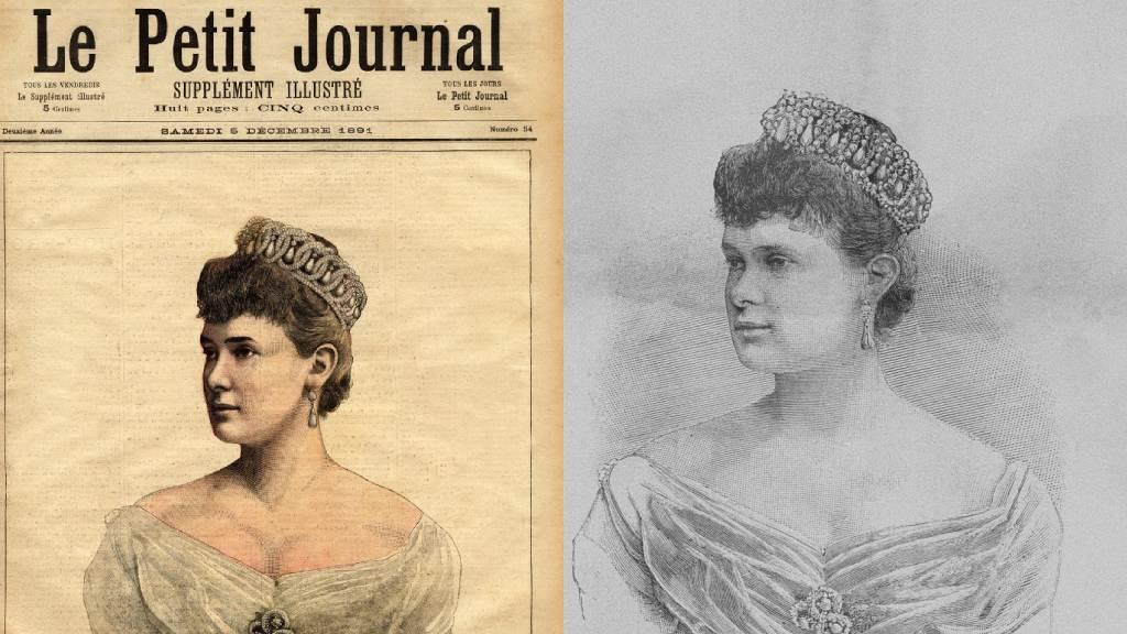 Marija Pavlovna Romanova orosz nagyhercegné a Vlagyimir tiarával