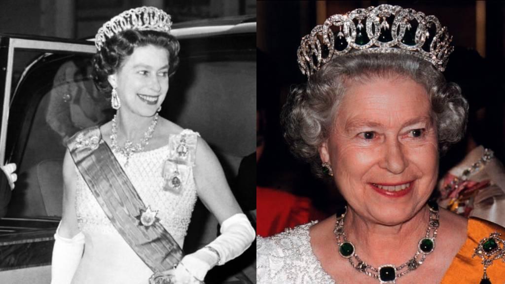 II. Erzsébet a Vlagyimir tiarában