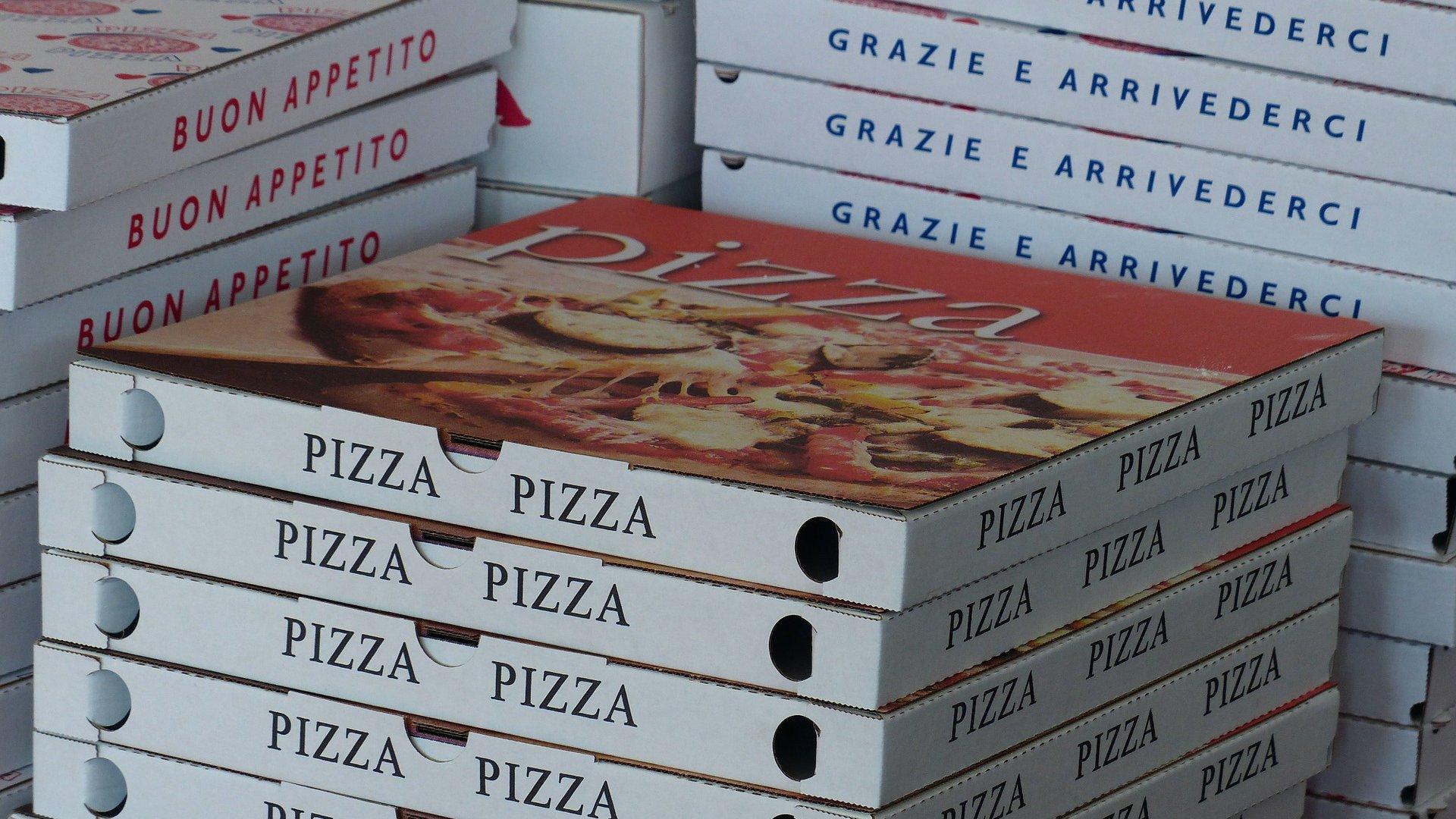 Pizza házhozszállítás doboz