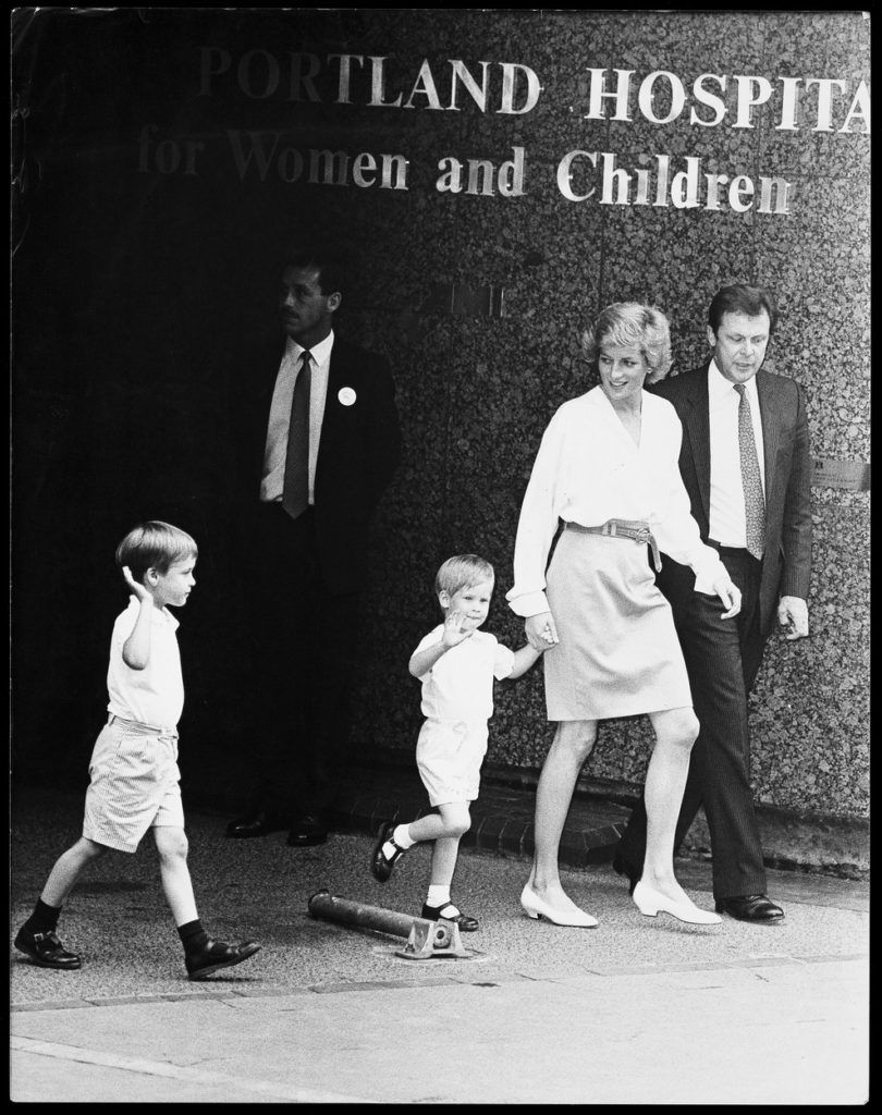 Vilmos, Diana és Harry herceg