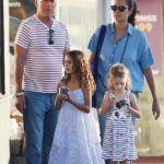 Bruce Willis és Emma Willis Mabellel és Evelynnel