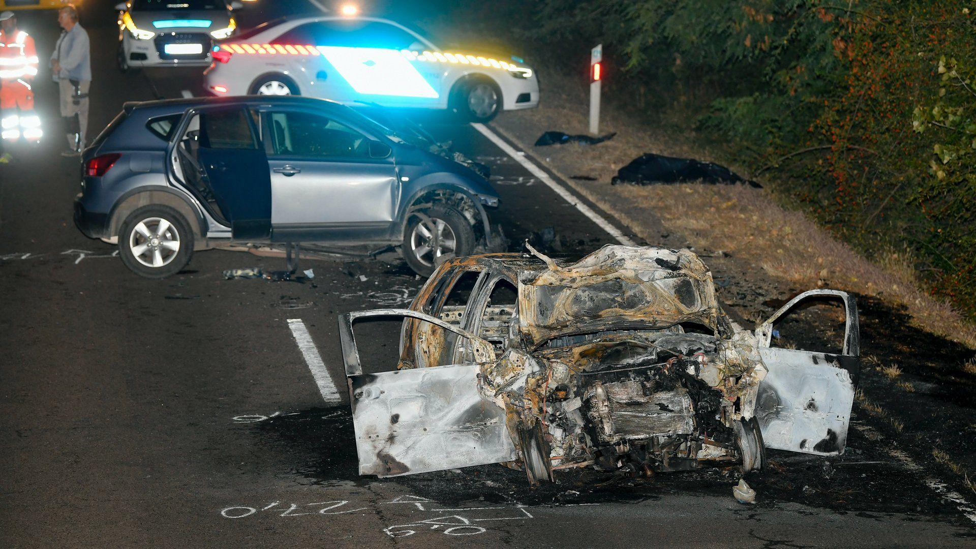 Halálos autóbaleset Nagyhegyesnél