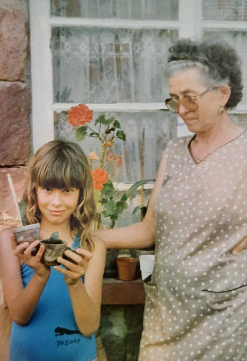 Teri mama és a kis Eta (Fotó: magánarchívum)