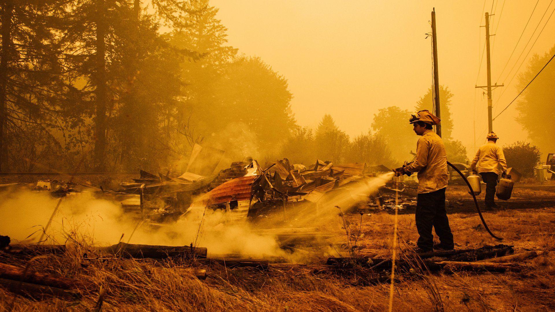 Erdőtűz Oregonban