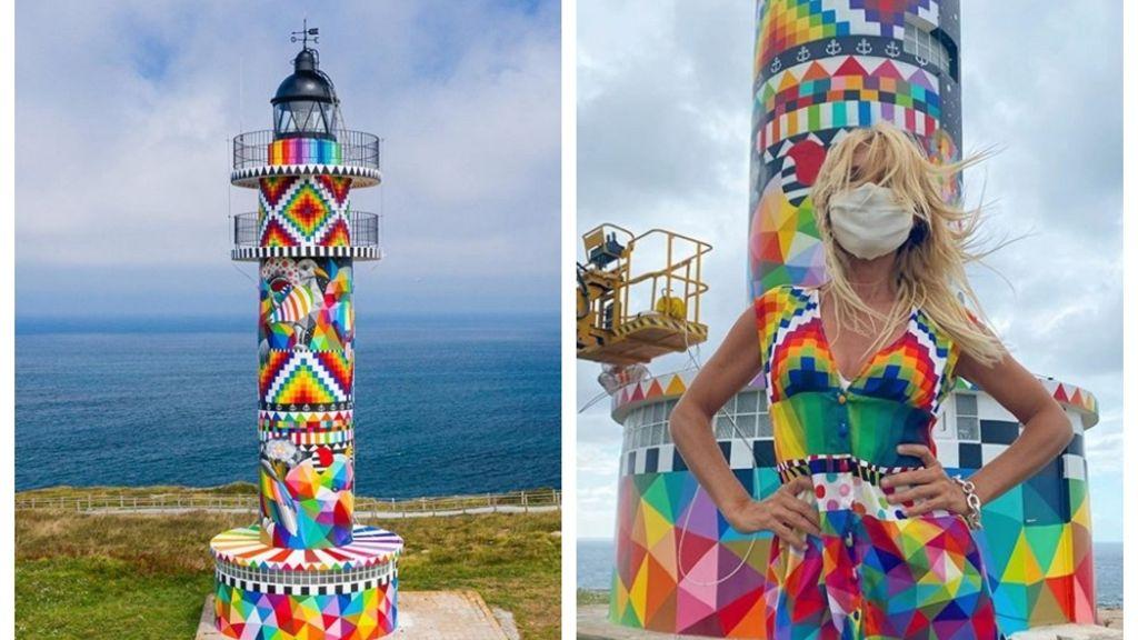 Botrány lett a színesre festett világítótoronyból