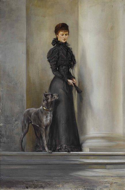 Erzsébet királyné az Ahílio lépcsőjén, Koppay József Árpád festménye /Wikipedia