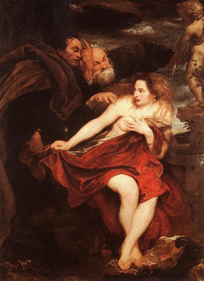 Anthony van Dyck: Zsuzsanna és a vének, 1622 (forrás: Wikipedia)