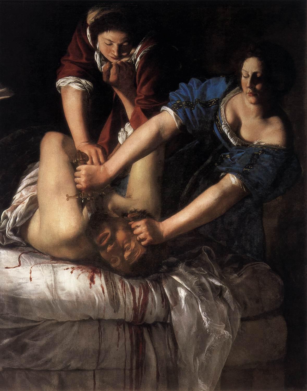 Artemisia Gentileschi: Judit lefejezi Holofernészt (forrás: Wikipedia)