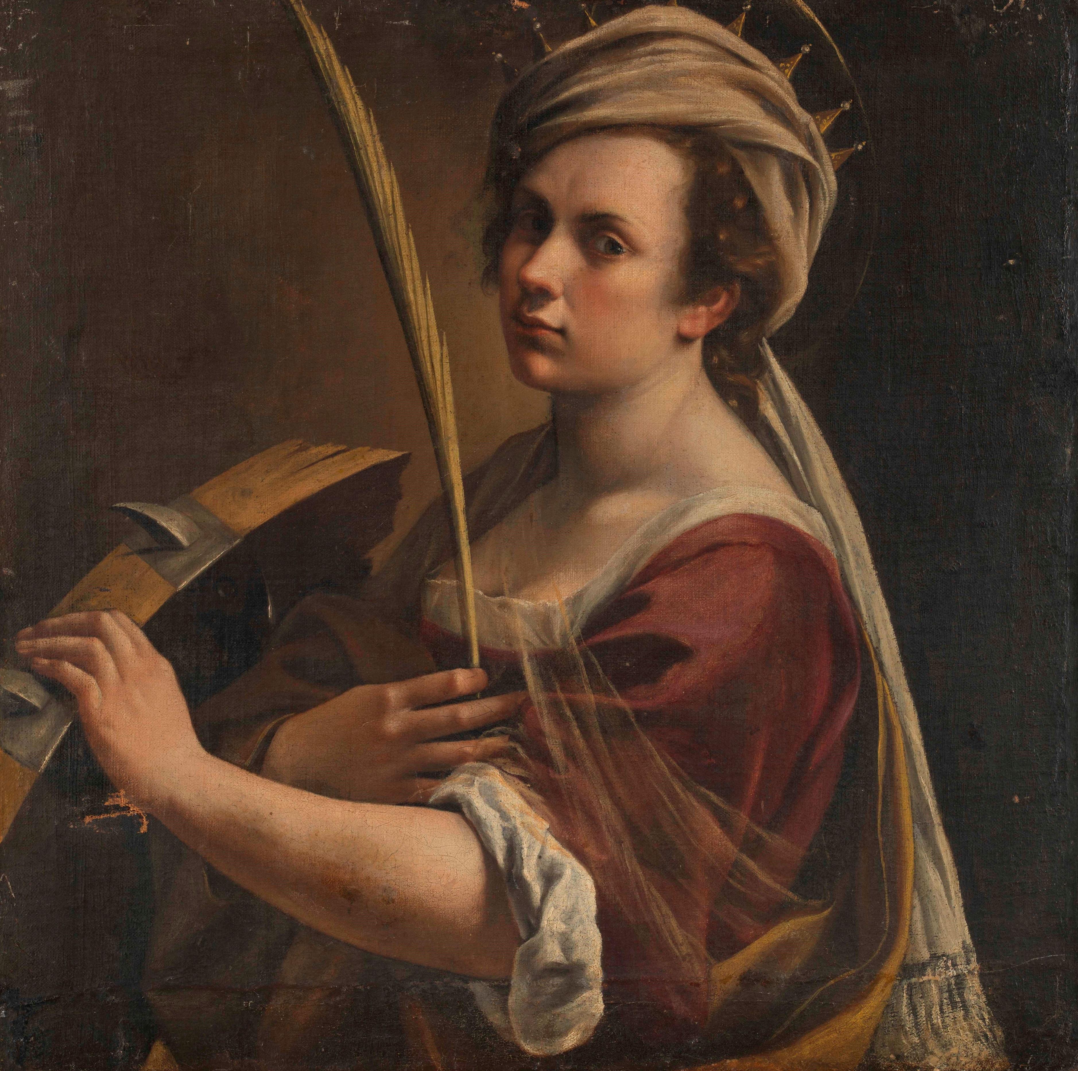 Artemisia Gentileschi önarcképe 1616-ból (forrás: Wikipedia)