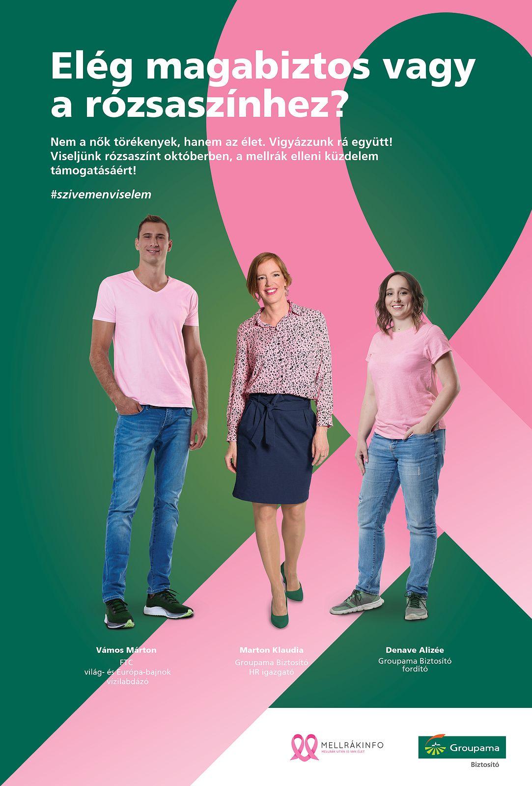 A Groupama Biztosító egyik kampányplakátja