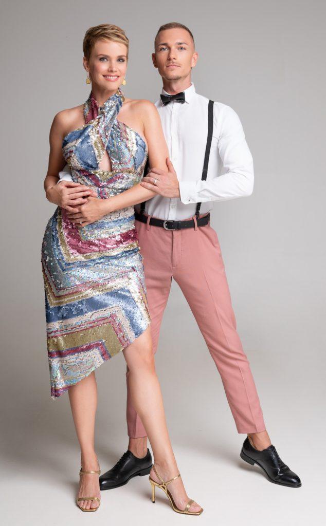 Osvárt Andrea táncpartnerével (Fotó: TV2)
