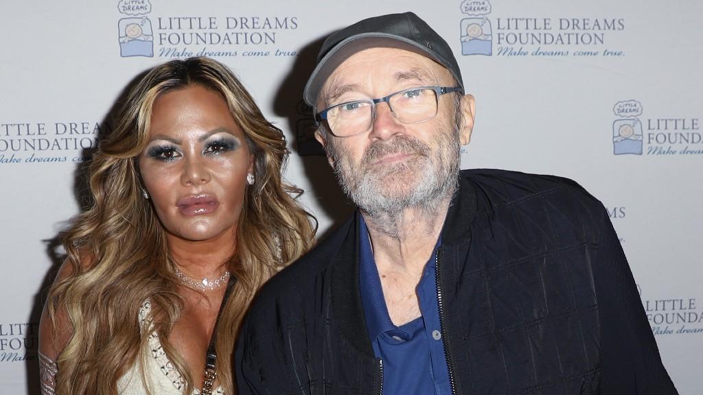 Phil Collins és Orianne Cevey egy 2018-as sajtóeseményen (fotó: John Parra/Getty Images)