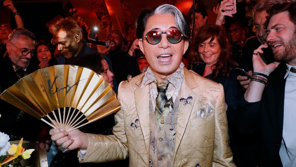 Kenzo Takada az idei Párizsi Divathéten (fotó: Rindoff Petroff/Castel/Getty Image)
