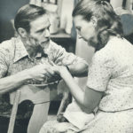 Hagan Beggs és Patricia Hamilton a Tarragon színház egyik darabjában