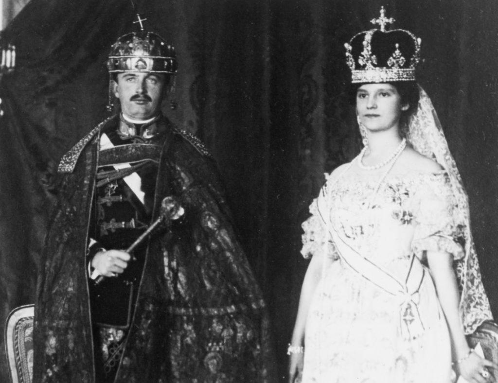 IV. Károly és felesége, Zita Bourbon–parmai hercegnő (Photo by George Rinhart/Corbis via Getty Images)