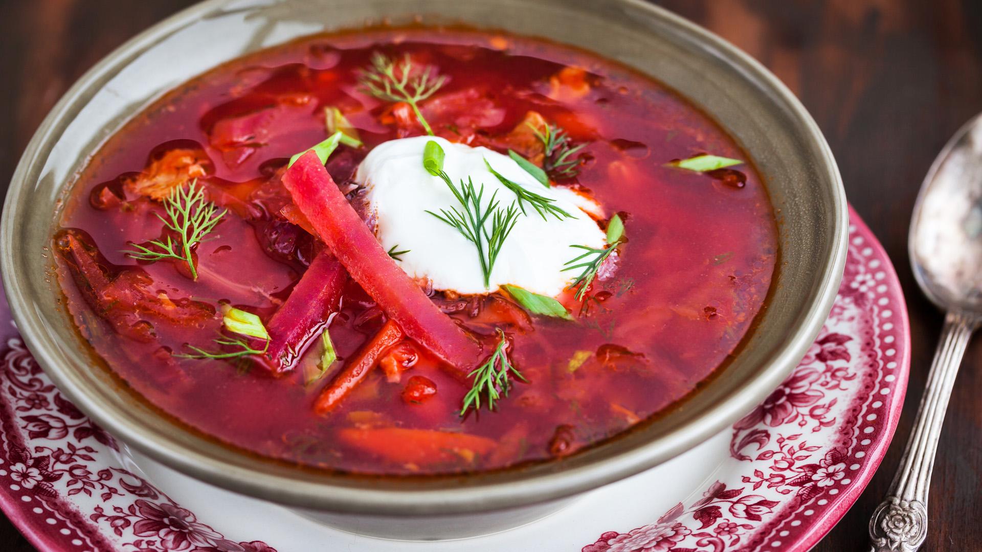 Bazi nagy ukrán leves, a borscs