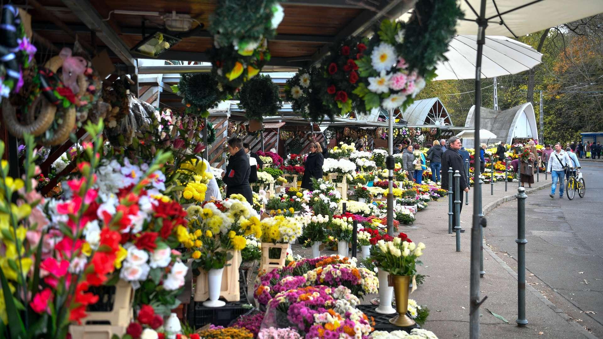 Virágok halottak napjára