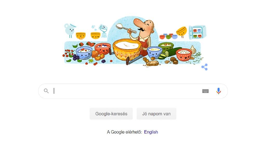 A Google kezdőoldala 2020 október 27-én
