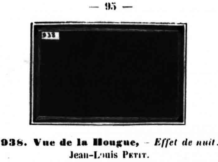 Bertall szurokfekete tájképe, amely elvileg Jean-Louis Petit nevű festő túlságosan sötétre sikerült képét karikírozza ki(forrás: modernartisrubbish.com)